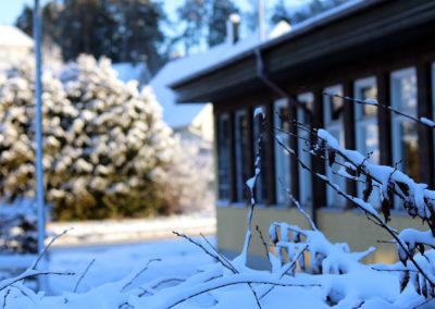 Vinter på Rönninge gymnasium